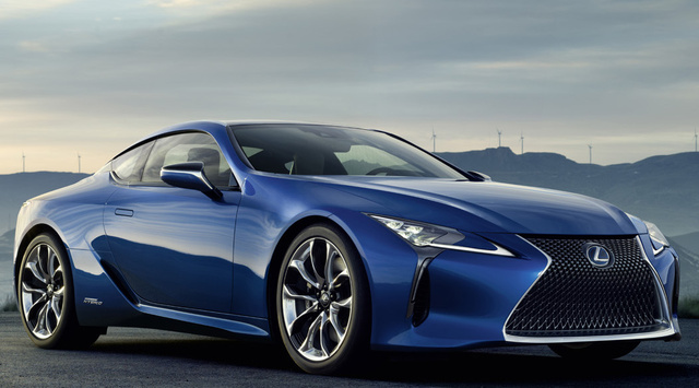 2018 Lexus LC Hybrid, Front-quarter view., exterior, manufacturer, gallery_worthy