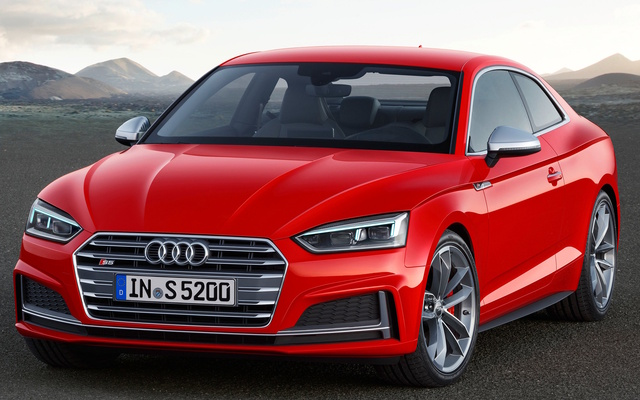 2018 Audi S5, Front-quarter view of European version., exterior, manufacturer