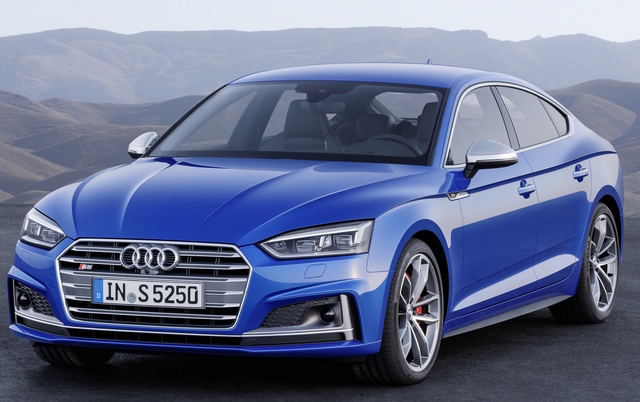 2018 Audi S5 Sportback, Front-quarter view of European version., exterior, manufacturer