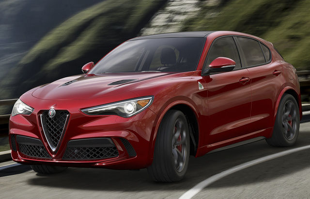 2018 Alfa Romeo Stelvio, Front-quarter view., exterior, manufacturer