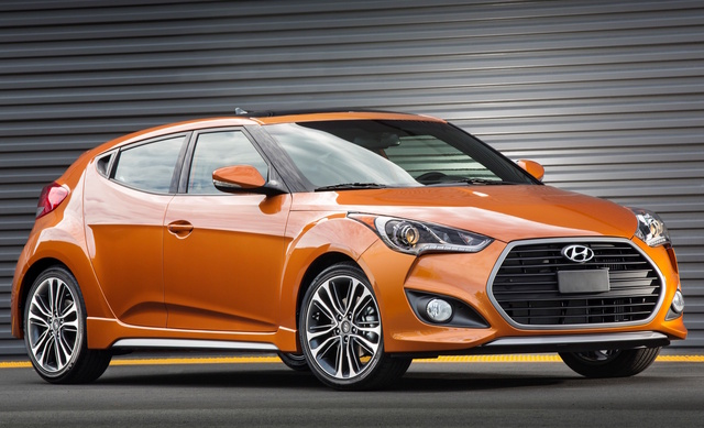 2017 Hyundai Veloster Turbo, Front-quarter view., exterior, manufacturer, gallery_worthy