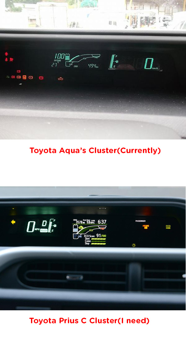Toyota Prius c Questions - how do I change my speedometer