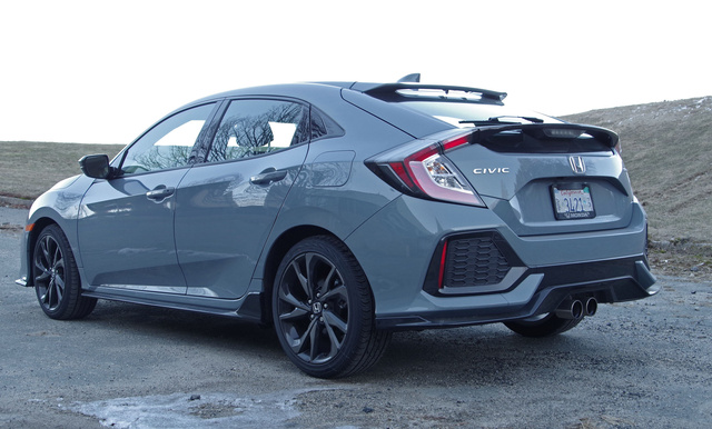2017 Honda Civic Hatchback, Rear view of hatch, exterior