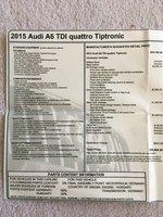 Picture of 2015 Audi A6 3.0 TDI Quattro Prestige, interior