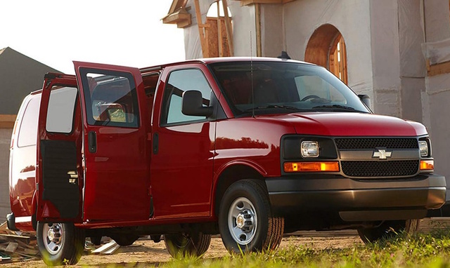 2017 Chevrolet Express Cargo, Front-quarter view., exterior, manufacturer, gallery_worthy