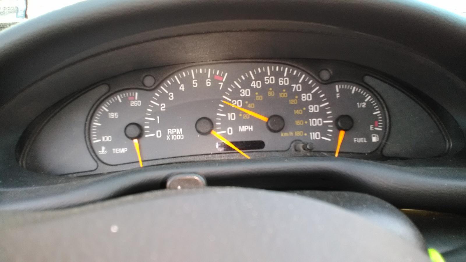 2004 Pontiac Instrument Warning Lightslights Stayswitch