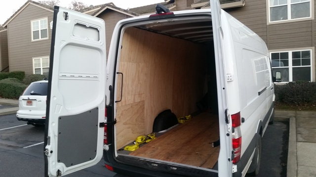 Picture Of 2015 Mercedes Benz Sprinter Cargo 2500 170 WB Extended Van Interior
