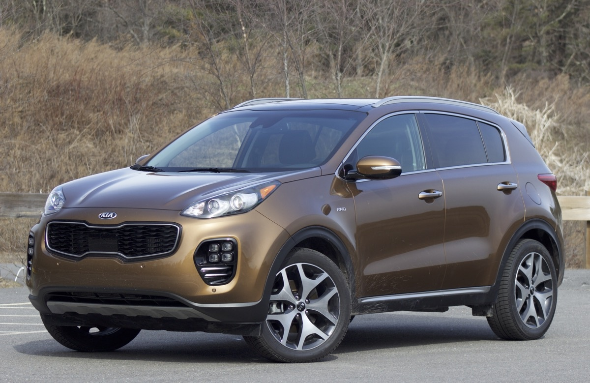 Exterior of the 2017 Kia Sportage