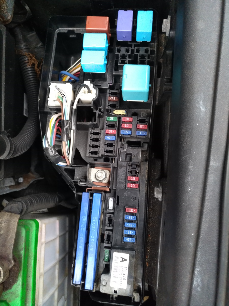 And this is the fuse box